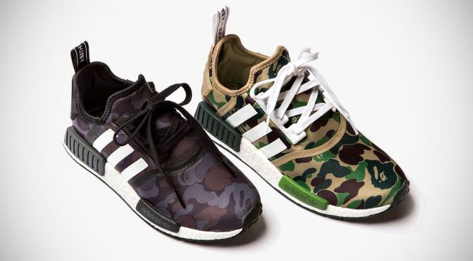 BAPE x Adidas Originals NMD-R1 Sneakers