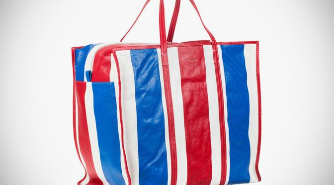 Balenciaga's Interpretation Of Iconic Red-White-Blue Bag Cost A ...