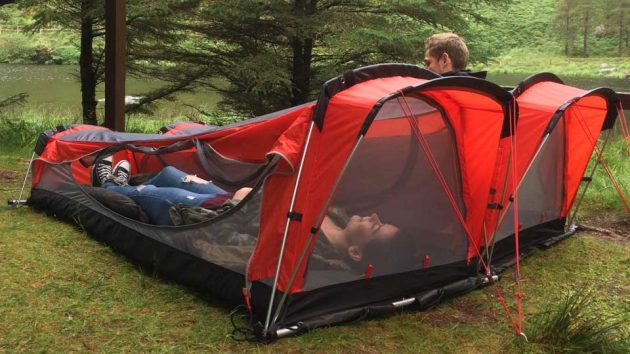 Crua Hybrid Tent and Hammock Hybrid & Crua Hybrid: Itu0027s A Tent A Hammock An Air Mattress And A ...