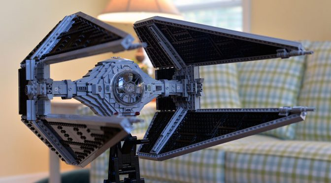LEGO UCS Tie Fighter Turned Into UCS Tie Interceptor Is Beyond Awesome