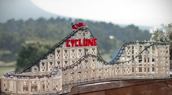 Miniature Wonder: Cyclone LEGO Compatible Roller Coaster Toy
