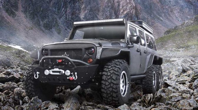 Chinese Automaker Turned A Jeep Wrangler Into A 6-Wheeled SUV Truck