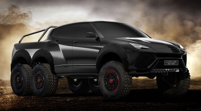This Is What An URUS Would Look Like If Lamborghini Gave It Six Wheels