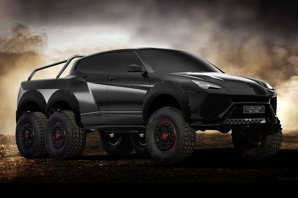 this is what an urus would look like if lamborghini gave it six wheels mikeshouts. Black Bedroom Furniture Sets. Home Design Ideas