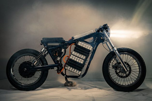 Leafy Savage Custom Electric Motorcycle by Night Shift Bikes
