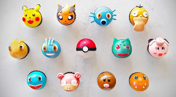 Pokémon-inspired Cupcakes by One Third Pastries