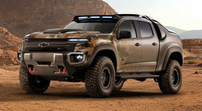 GM's Chevy Fuel-cell Off-roader For U.S. Army Looks Like A Show Truck