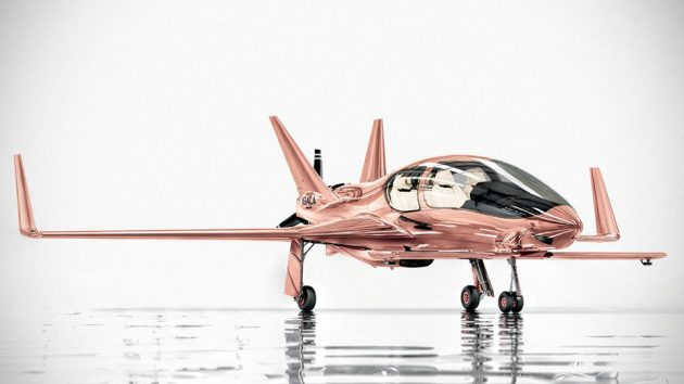 Cobalt Valkyrie-X Private Plane In Rose Gold