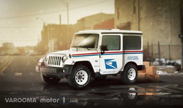 Concept USPS Delivery Vehicle Jeep Wrangler