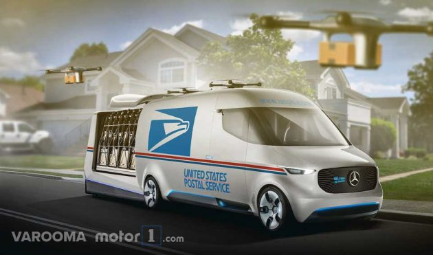 Concept USPS Delivery Vehicle Mercedes-Benz Vision Van