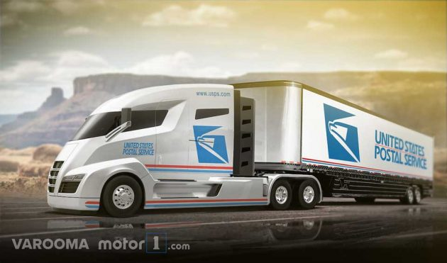 Concept USPS Delivery Vehicle Nikola One Semi