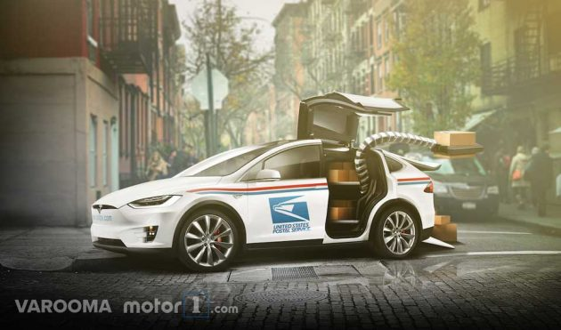 Concept USPS Delivery Vehicle Tesla Model X