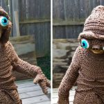 Ohio Mum Created A Super Adorable E.T. Halloween Costume For Son