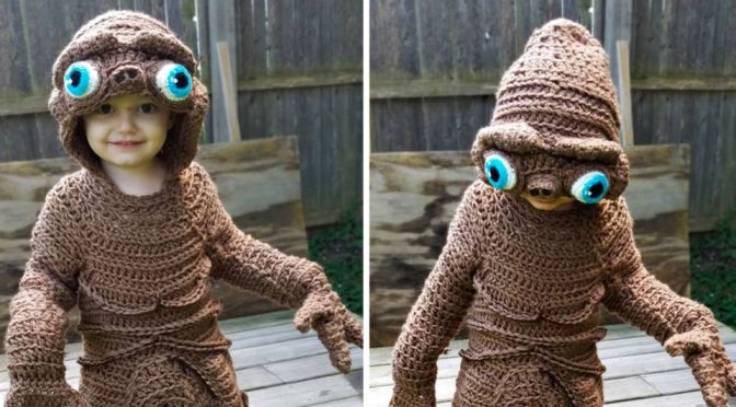 Freehand Crochet E.T. Costume by Stephanie Pokorny