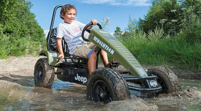 Jeep Go-Kart Lets Junior Go Where No Pedal Go-Kart Dare To Go: Off-Road