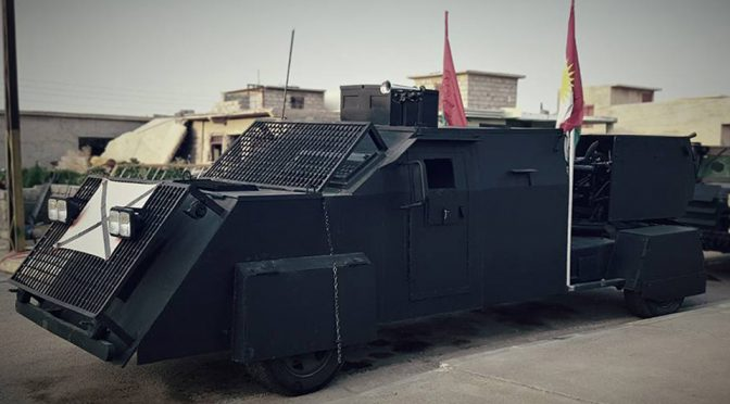 Kurdish Peshmerga Rolled Out Homemade Tanks To Fight ISIS