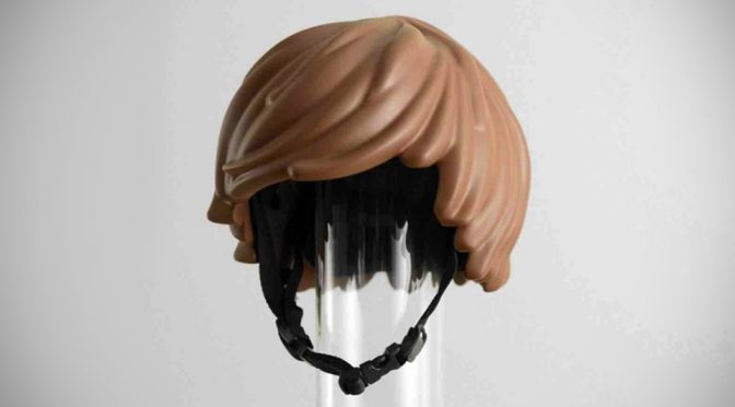 Concept LEGO Minifig's Hair-inspired Bicycle Helmet Is As Crazy As It Is Cool