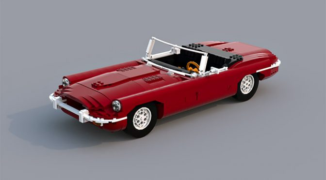 LEGO Ideas Jaguar E-Type Roadster by Ozzyeatingbats
