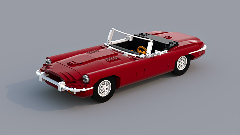 Vote So This Ultra Realistic Lego Jaguar E Type Roadster