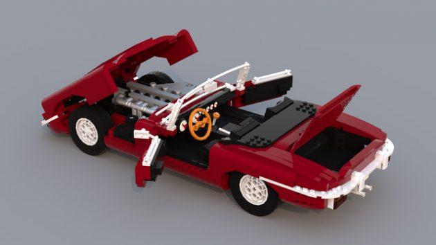 LEGO Ideas Jaguar E-Type Roadster by Ozzyeatingbats