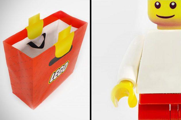 LEGO Minifig Hands Shopping Bag