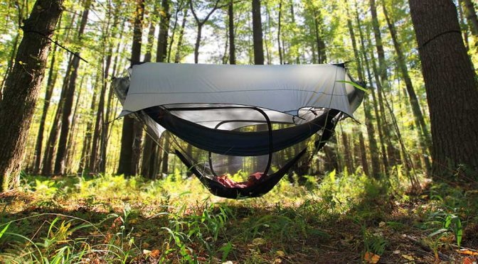 Nubé Stratos Modular Hammock Shelter Keeps Bugs Out, Rain Or Shine