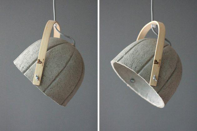 Paper Concrete Composite Dome Lamp