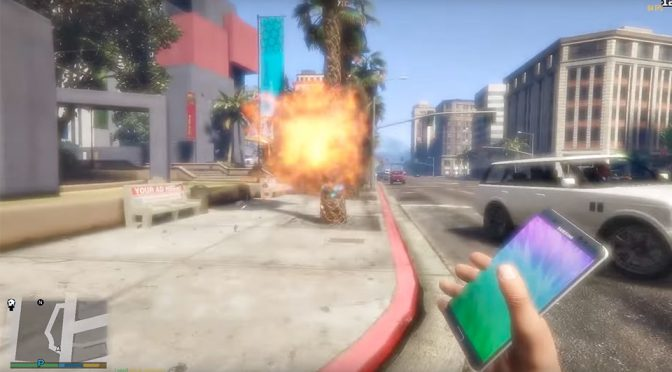 Clearly, Samsung Is Not Amused By <em>GTA V</em> Galaxy Note 7 Bomb Mod