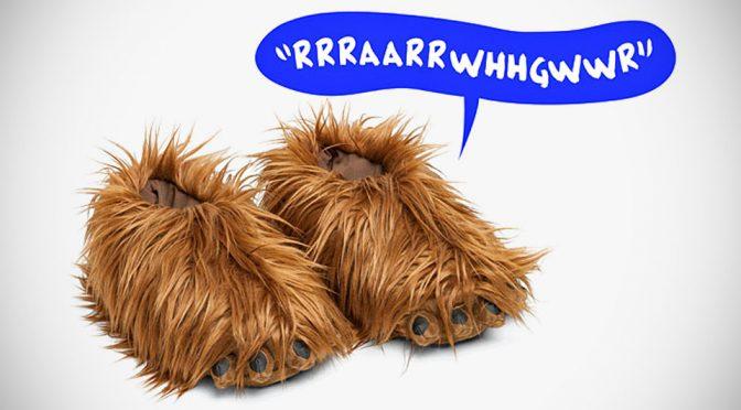 Chewie's Feet-lookalike Slippers Makes Iconic Chewie Roars As You Walk