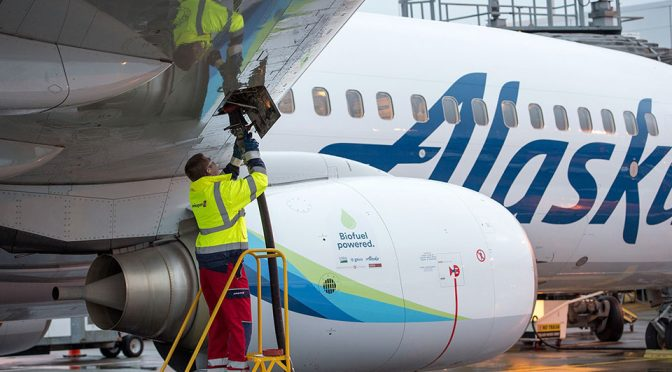 Alaska Airlines Flies On Renewable Alternative Jet Fuel