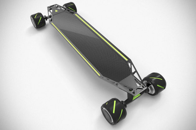 Acton Blink Qu4tro Is A 4 Wheel Drive Electric Skateboard