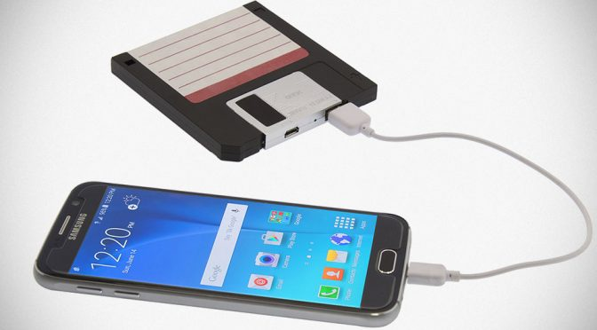 """3.5"""" Floppy Disk Lives Again, But This Time, It Is Used To Recharge Your Phone"""