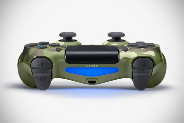 Green Camouflage Playstation Dualshock 4 Controller