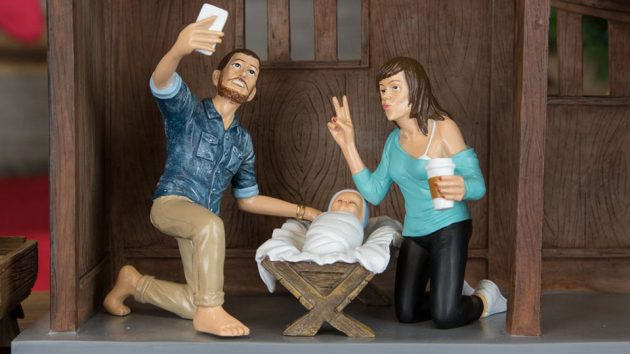 Hipster Nativity Set by Modern Nativity