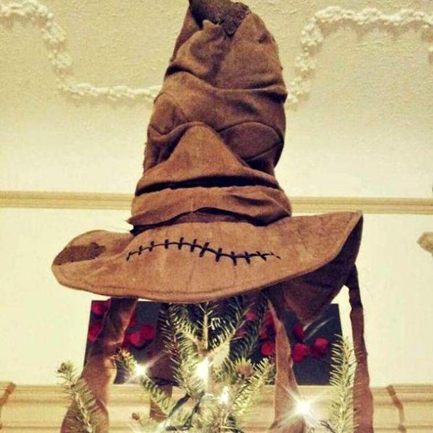 Hogwarts Sorting Hat Tree Topper