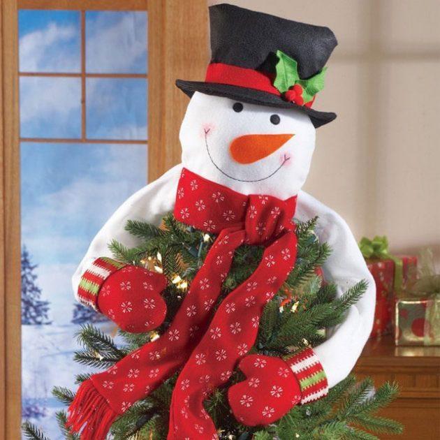 Hugging Snowman Tree Topper