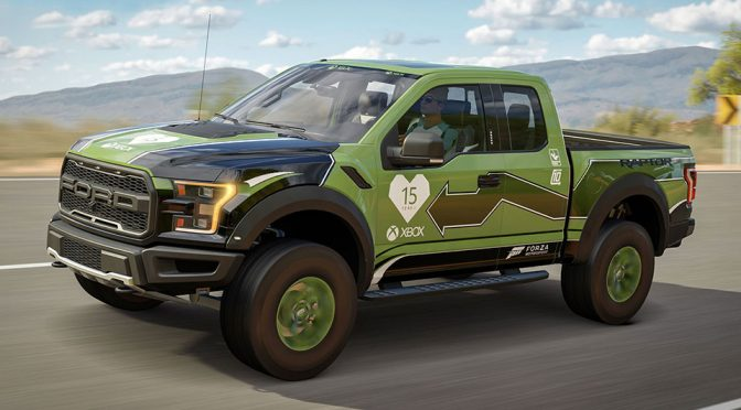 Forza 2017 Ford F-150 Raptor Gets Custom Livery To Mark Xbox 15 Years