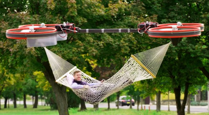 Huge-ass RC Drone With Suspending Hammock Has The Internet Debating