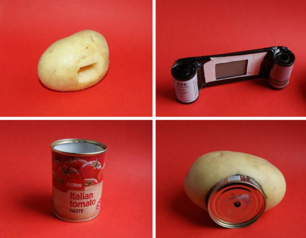 SpudCam Potato Pinhole Camera