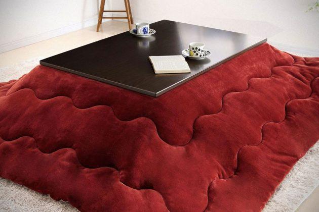 Square Kotatsu Gino Table and Blanket Hybrid