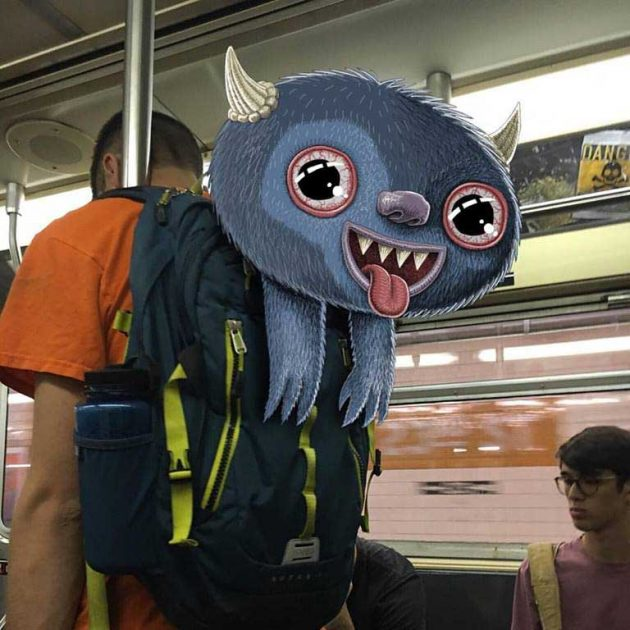 Subway Doodle - Monsters In Subway