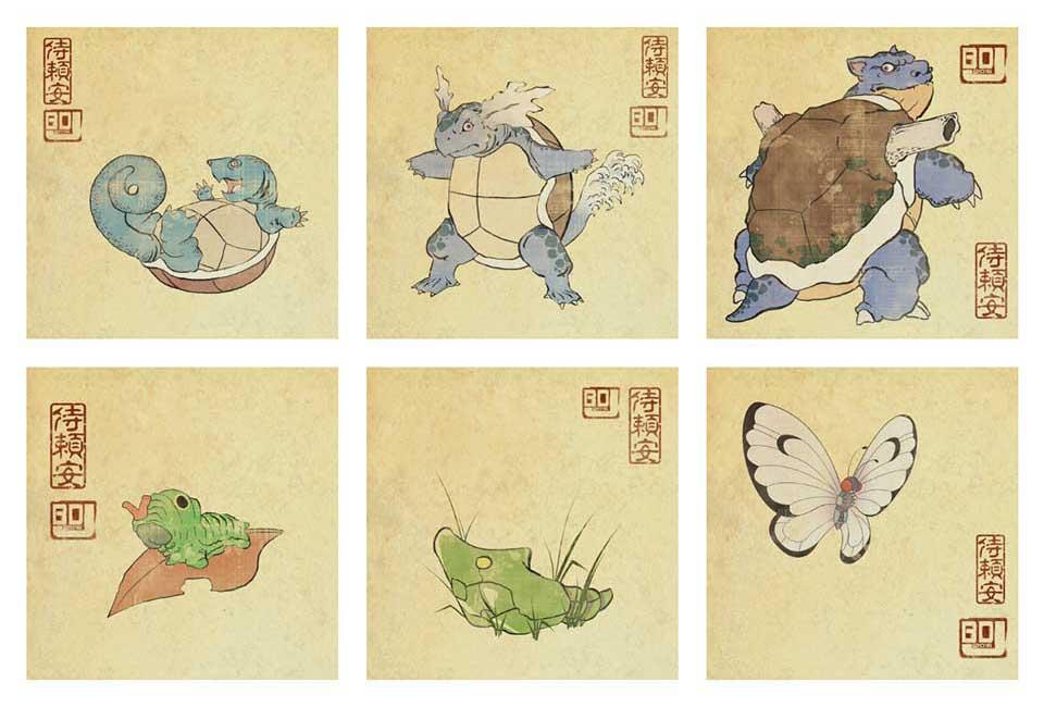 Ukiyo-e Style Pokémon by BD Judkins