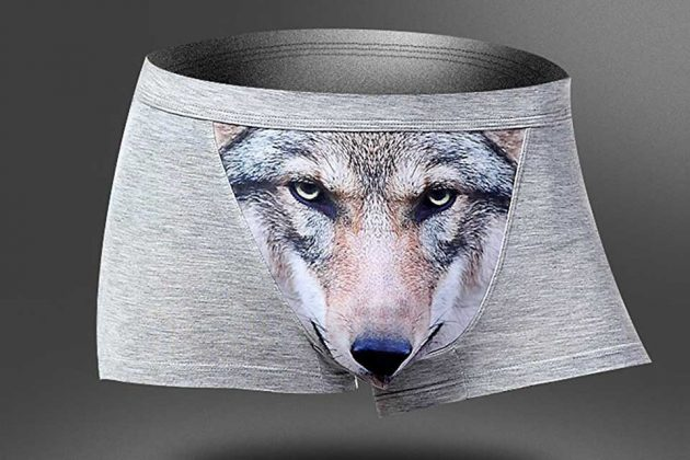Wolf Head Crotch Underwear