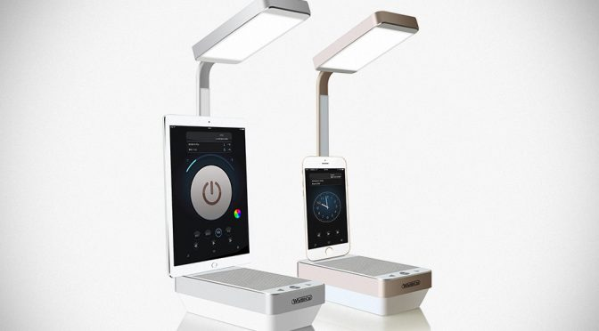 WySky: It Is A LED Lamp, A Speaker And An iPhone Dock Rolled Into One