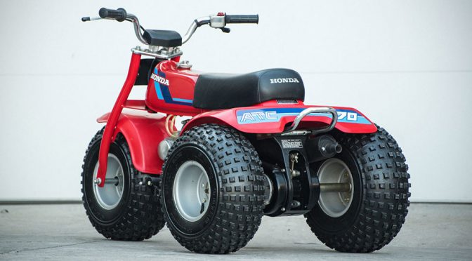 Trust Me, You Will Want This Pristine 80s Honda ATC 70 Three-Wheeler