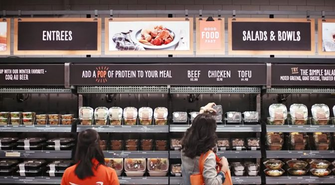 Amazon Go Queue-less and Cashier-less Grocery Store