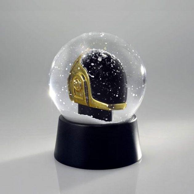 Daft Punk Gold Guy Snow Globe