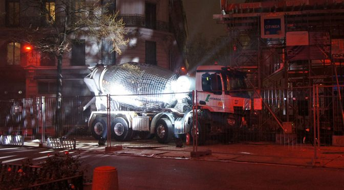 Disco Ball Cement Truck by Benedetto Bufalino