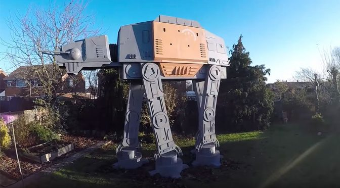 Who Needs A Treehouse When You Can Have An 18-Foot Tall 'Playable' AT-AT