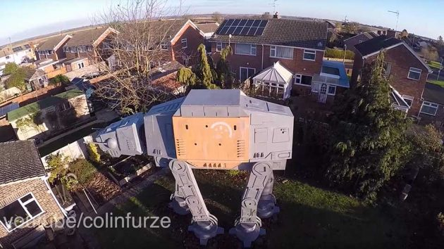 Giant Star Wars AT-AT Garden Den by Colin Fuze